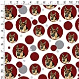 Premium Gift Wrap Wrapping Paper Roll Pattern - German Shepherd - Red