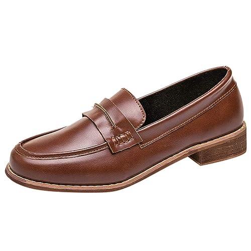 Mocasines para Mujer, Zapatos Plataforma Loafer Primavera Verano para Oficina y Uso Diario: Amazon.es: Zapatos y complementos