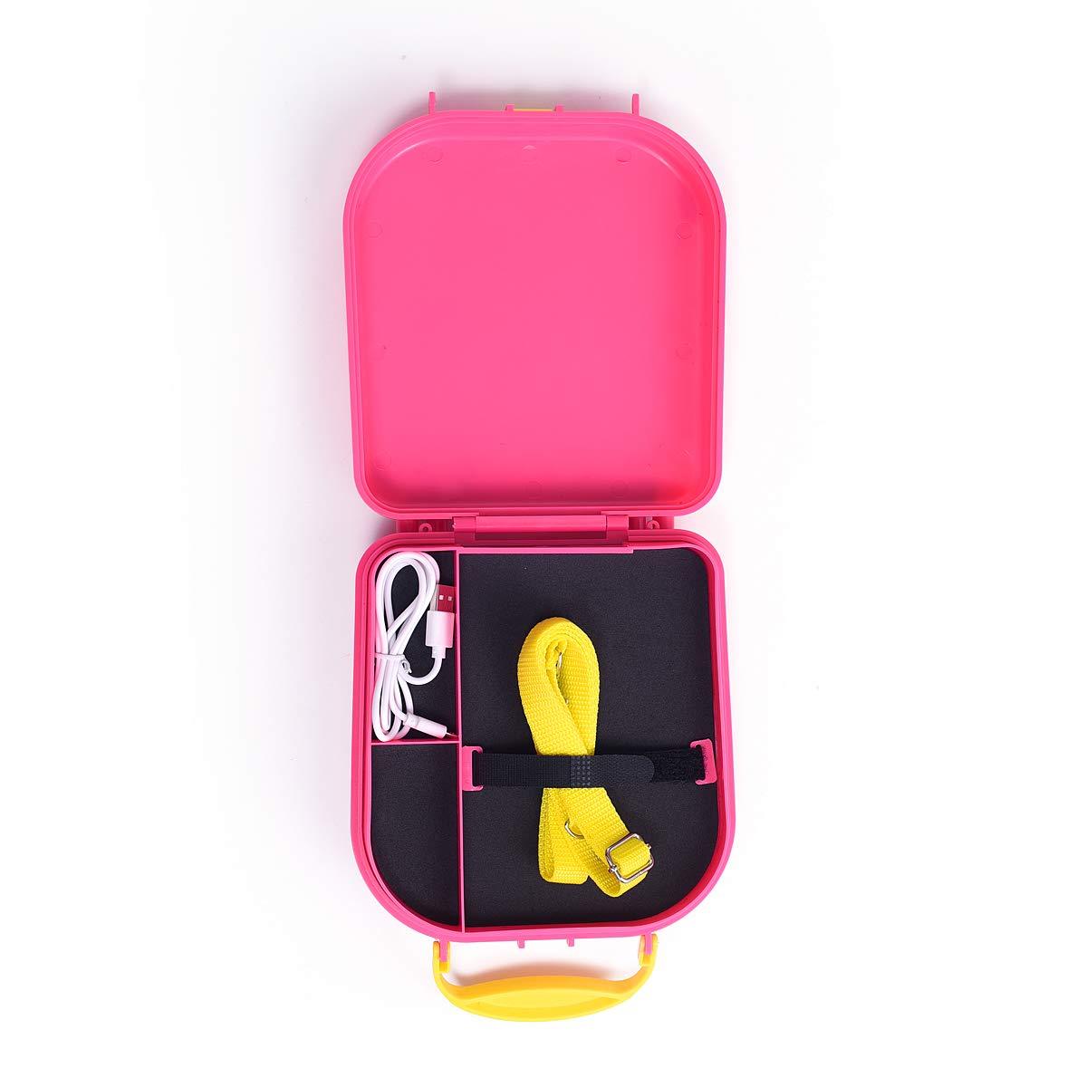 Bluetooth Speaker Children's Karaoke Speaker Portable Microphone Beach Handbag Karaoke Bluetooth Speaker Wireless Cartoon Speaker for Kids for Indoor Outdoor Travel Activities with Microphone (Pink) by HowQ (Image #4)