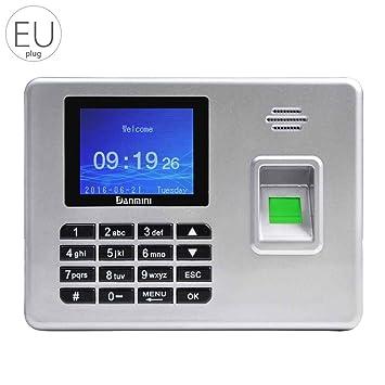 Meisijia Huella digital Reloj de tiempo Registro Registrador de nómina Asistencia de empleados Reloj Acceso a