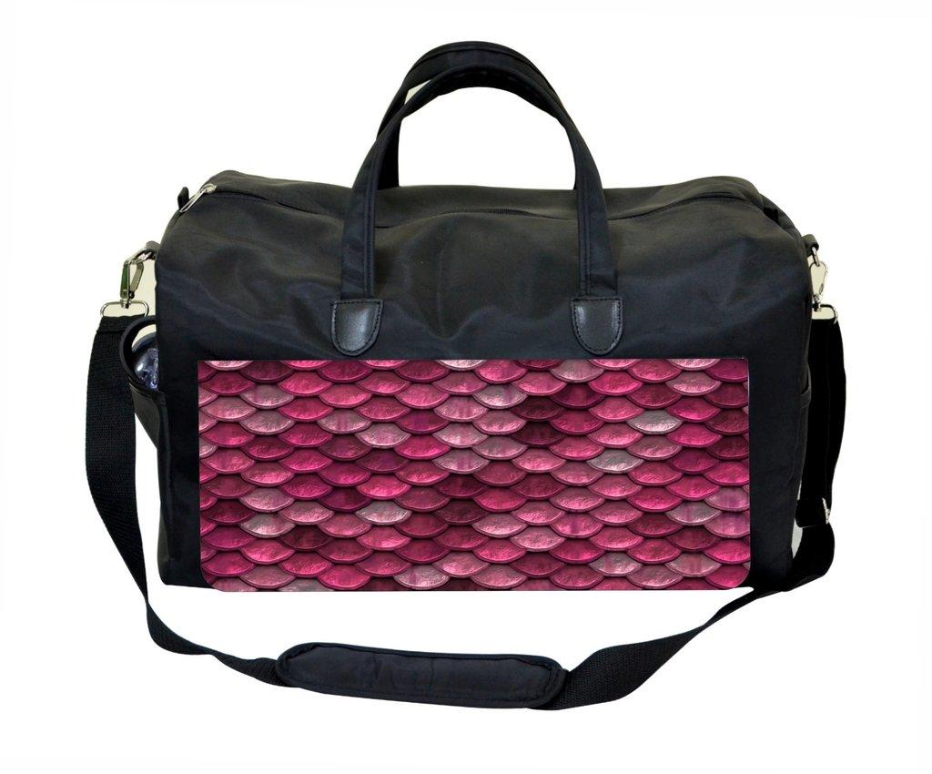 Pink Mermaid Scales Weekender Bag