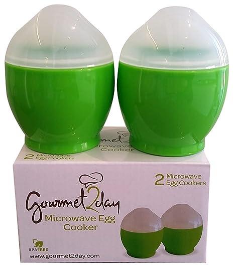 Gourmet2day COCEDOR de huevos para microondas con eBook de ...