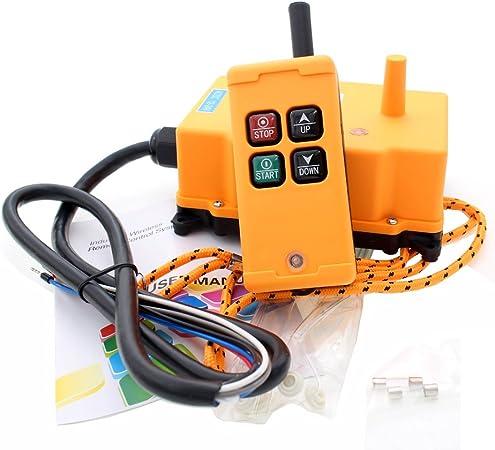 8 teclas tipo gr/úa industrial inal/ámbrico mando a distancia transmisor Hoist Switch