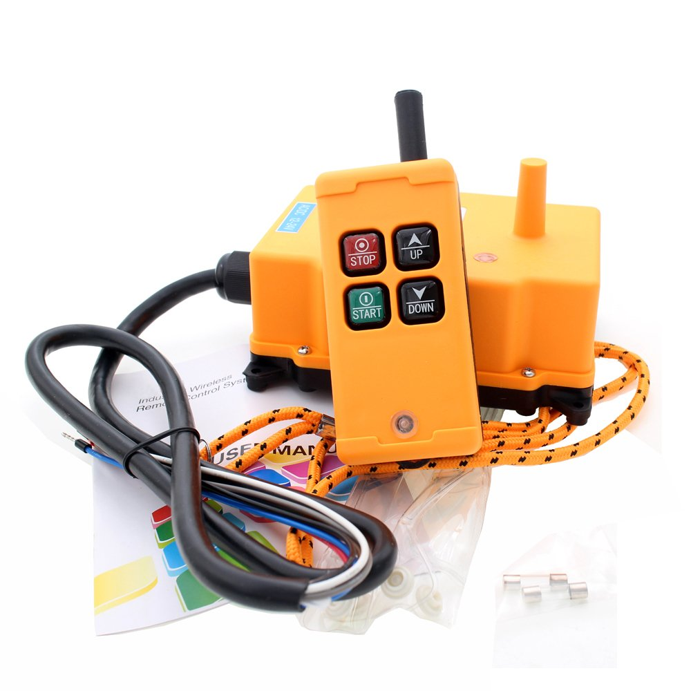 creatorele 4 Key Crane Industrial Remote Control Wireless Transmitter Push Button Switch (AC/DC12-24V) by creatorele