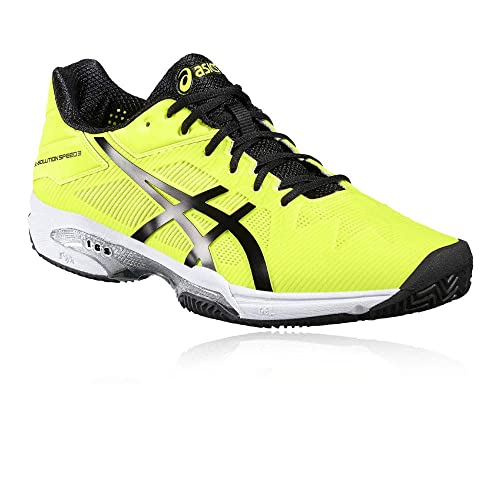 ASICS GEL SOLUTION SPEED 3 CLAY AMARILLO NEGRO E601N 0790: Amazon.es: Zapatos y complementos