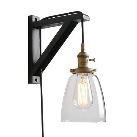 Amazon.com: Pathson Lámpara de pared retro con interruptor ...