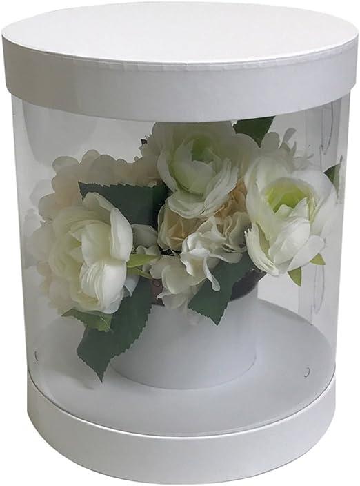jdcmyk PVC transparente florista flor de embalaje caja de regalo ...