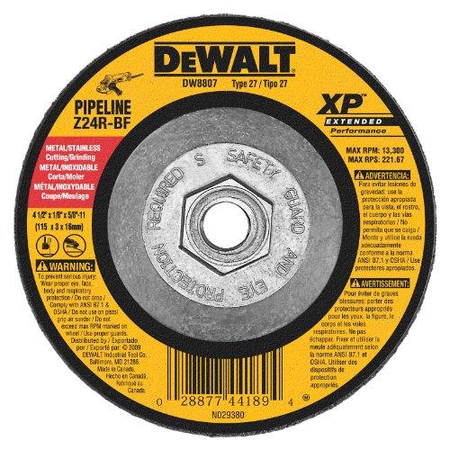 DEWALT DW8807 4-1/2-Inch by 1/8-Inch by 5/8-Inch-11 XP Grinding Wheel