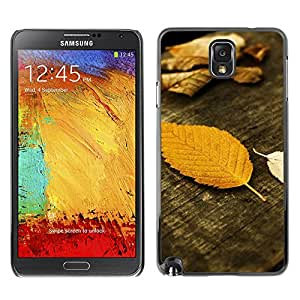 LASTONE PHONE CASE / Slim Protector Hard Shell Cover Case for Samsung Note 3 N9000 N9002 N9005 / Cool Autumn Wood Grain Nature