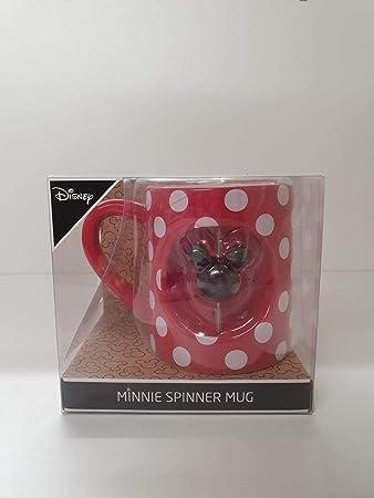 Disney Minnie Mouse Giratorio Taza Rojo Topos Té / Taza de Café Primark: Amazon.es: Hogar