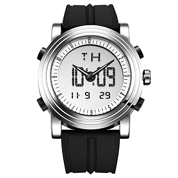 SINOBI S9368G - Reloj Digital para Hombre, con Alarma ...