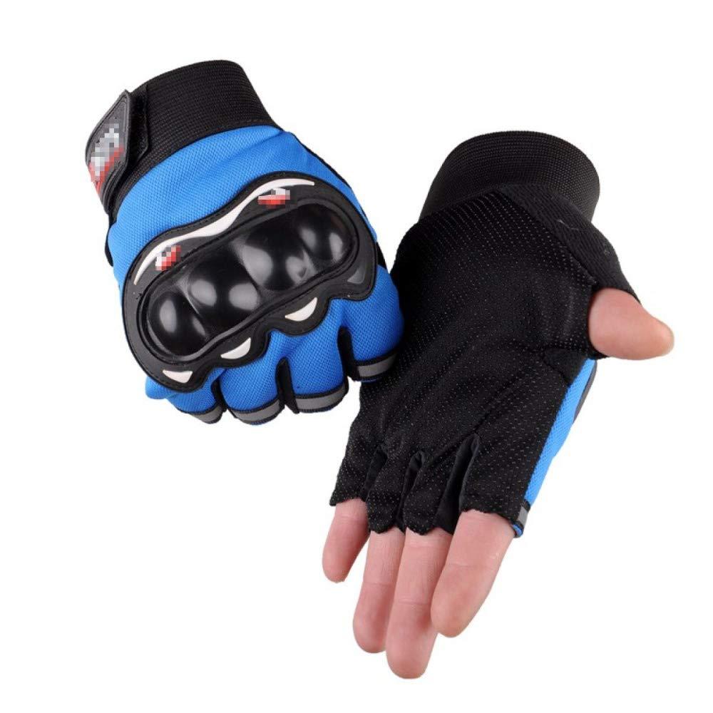 YIWANGO Herren Outdoor Handschuhe Half Finger Anti-Rutsch Anti-Schneiden Radfahren Anti-Slip Fitness Handschuhe,2-OneGröße