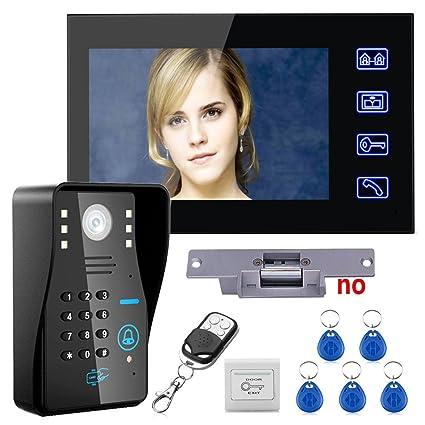 Touch Key 7u0026quot; Lcd RFID Password Video Door Phone Intercom System Kit+ Electric Strike Lock+  sc 1 st  Amazon.com & Amazon.com: Touch Key 7