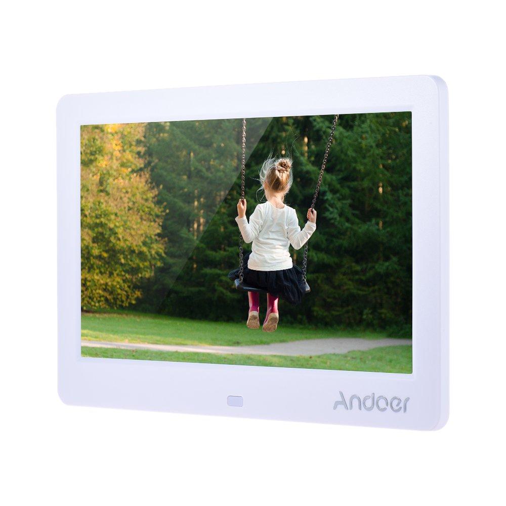 Andoer cadre photo numérique 12 pouces, cadre numérique avec haute définition 1280*800,  cadre avec télécommande comme horloge calendrier MP3 MP4 product image