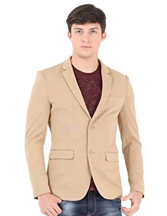 Sting Pale Light Brown Casual Blazer  Amazon.in  Clothing   Accessories 92fdba264b18