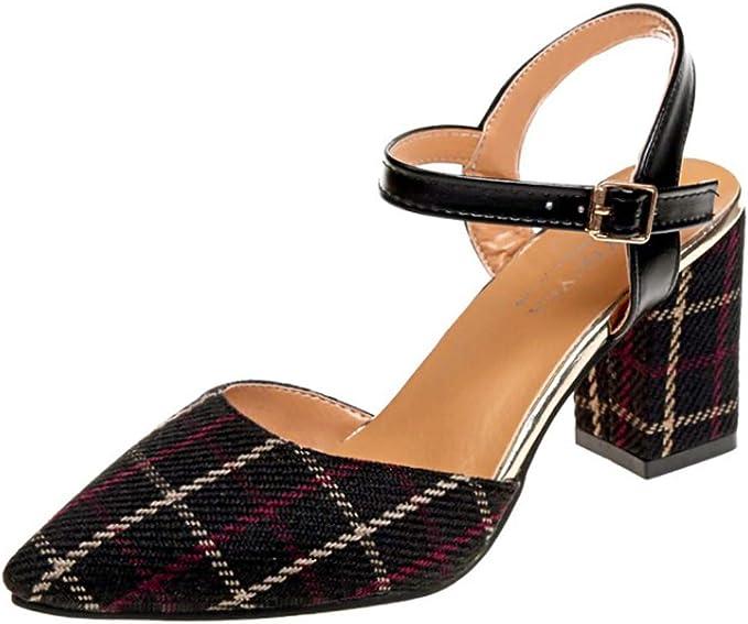 Qingsiy Sandalias Mujer Verano 2019 Zapatos de Tacón Moda de la ...