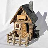Cheap Miniature Fairy Garden Outdoor Shed with Fence