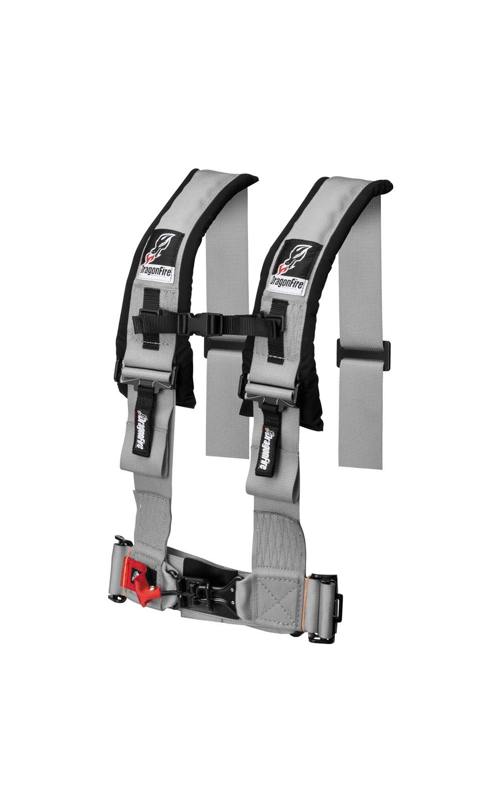 Arctic Cat/Textron WildCat Sport/Trail UTV Harness Mounting with 2 3'' Buckle Harnesses by Dragonfire Racing (Grey Harnesses)