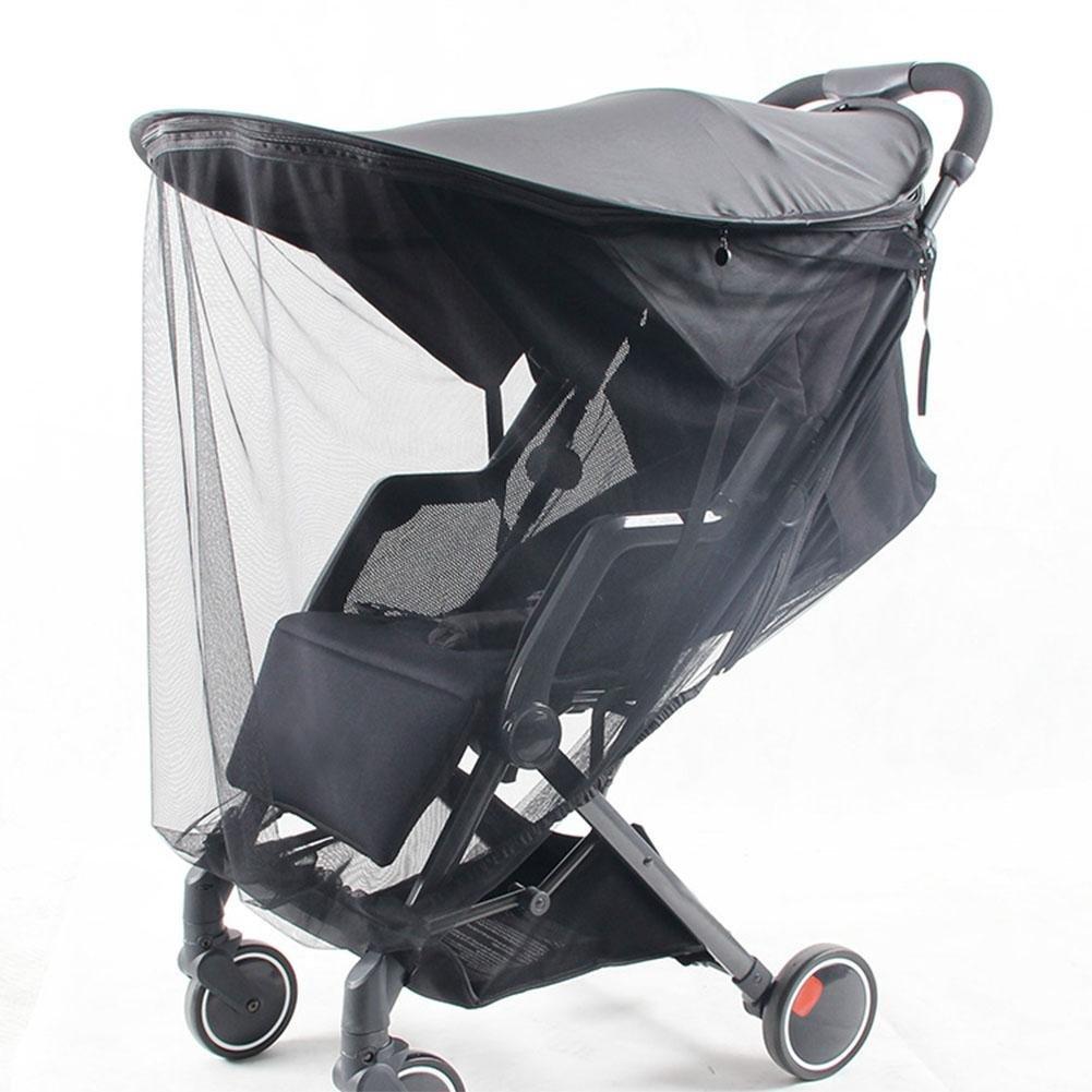 Kinderwagen Sonnenschutz Baldachin Baby Moskitonetz Universal UV-Schutz Baby Sonnenverdeck Zubeh/ör Verstellbar Faltbare Markisen Oberteil mit Rei/ßverschluss Anti-UV und Insektenrumpf