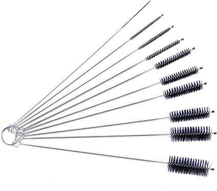 Pipe Cleaning Brushes Antistatic Brushes Nylon Bottle Cleaning Brush Set Jewelry Cleaning Keyboards Variety Pack for Glasses Drinking Straws Fine Nylon Tube Brush Set