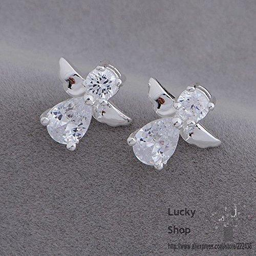 Slyq Jewelry AE653 925 sterling silver earrings , 925 silver fashion jewelry , angel /bwpaknwa eggamxna
