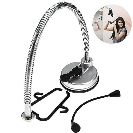 Tourwin Creative Soporte para secador de pelo giratorio a 360° de acero inoxidable para bañ