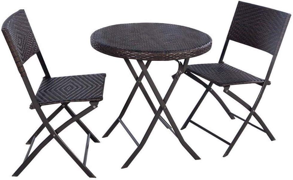 chaises de jardin rondes pliantes en acier déployé