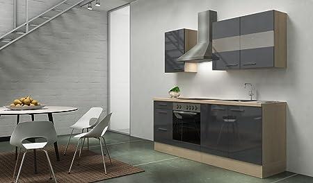 respekta Premium Instalación de Cocina Cocina 210 cm Acacia ...