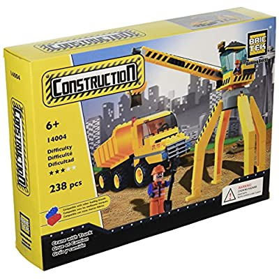 BRICTEK Crane with Truck Building Kit: Toys & Games