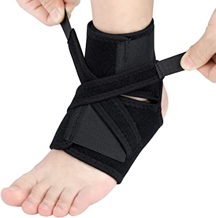 Blue//Black Ankle Strain One Size Fits All Luwint Ankle Brace Support for Women Men High Elastic Compression Ankle Wraps for Pain Relief Running Injury Recovery 2 Pieces Plantar Fasciitis