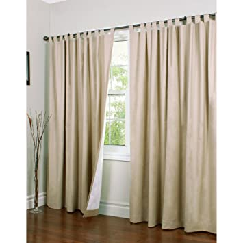 Amazon.com: Thermalogic Weathermate Tab Top Double Width Curtain ...