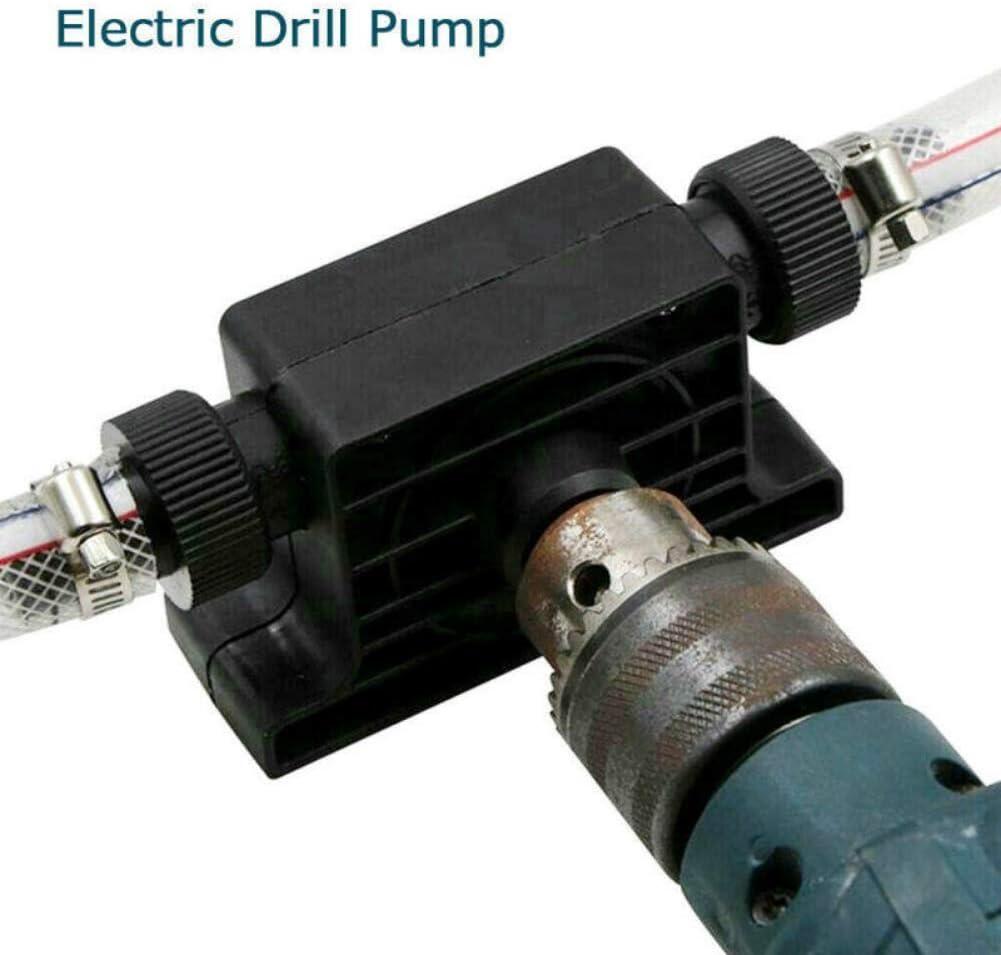 Rikey Taladro el/éctrico Manual Bomba autocebante Bomba de Transferencia de Agua de Fluido de Aceite