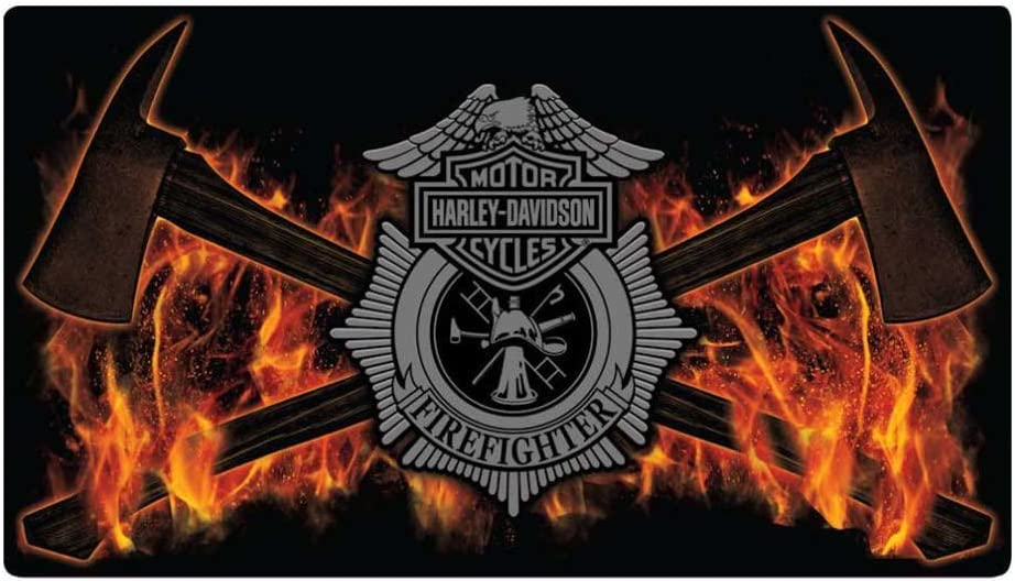 Harley-Davidson Embossed Firefighter Axes Tin Sign, 16.5 x 9.5 inches 2011211