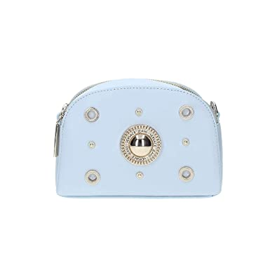 4df87ba900dc Image Unavailable. Image not available for. Color  Versace EE1VRBBV1 Powder  Blue Crossbody Bag ...
