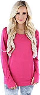 product image for LVR Raw Pullover w/Thumbholes Womens Active Organic Yoga Hoodie