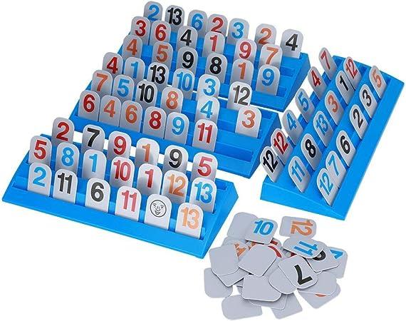 Alomejor Juego de Cartas Rummikub con tableros exclusivos de 3 Niveles Israel Mahjong Child Family Learning Juguetes Inteligentes: Amazon.es: Deportes y aire libre