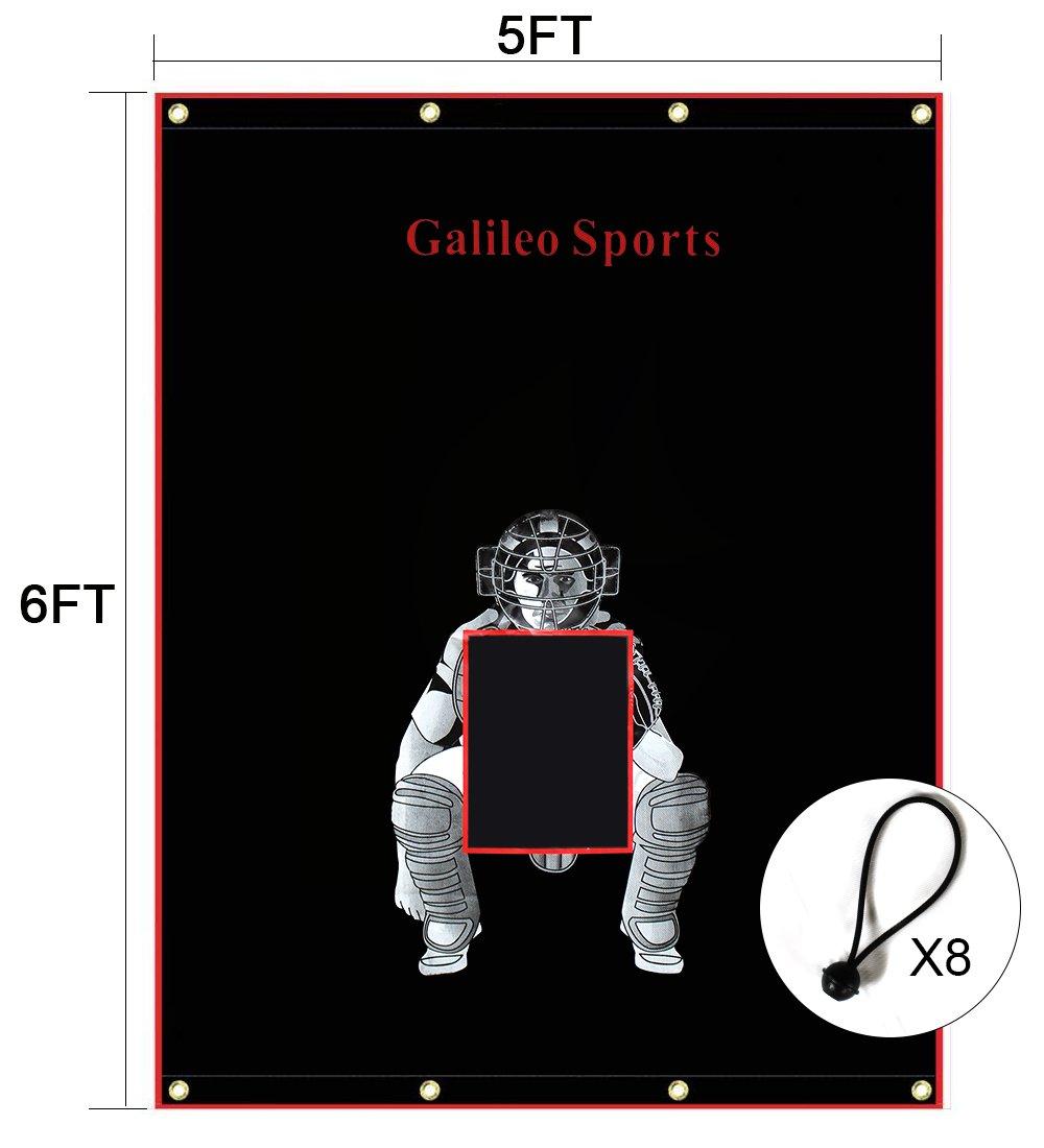 Galileo Baseball//Softball Tarpaulin Backstop Batting cage Target with Bungees
