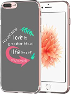 Case for 7 Plus Writings - Case for 8 Plus - Topgraph [Exact Slim Fit Clear with Design Full Coverage] Bumper Compatible for iPhone 8/7 Plus [Writings Purple]