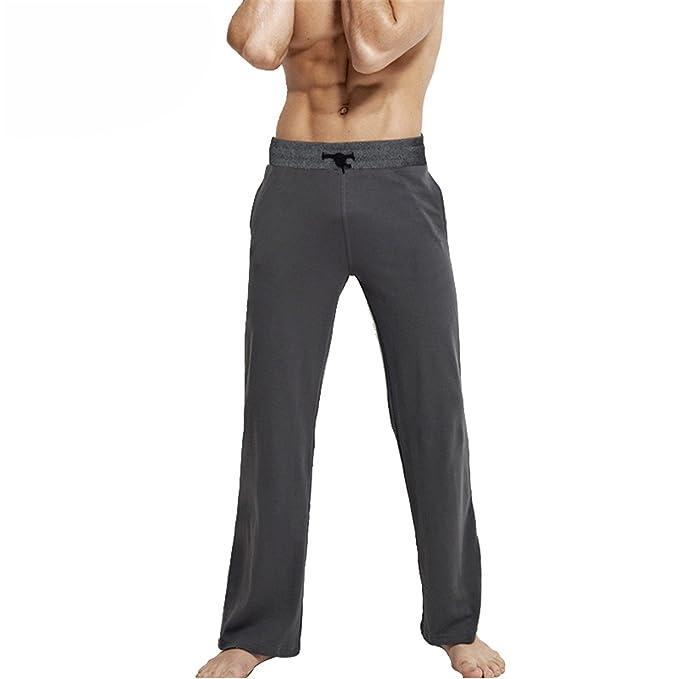 Susan1999 Mens Sleeping Trousers Cotton Pajamas Pants Loose Lounge Pants 5XL 6XL Drawstring Sleep Bottoms Dark