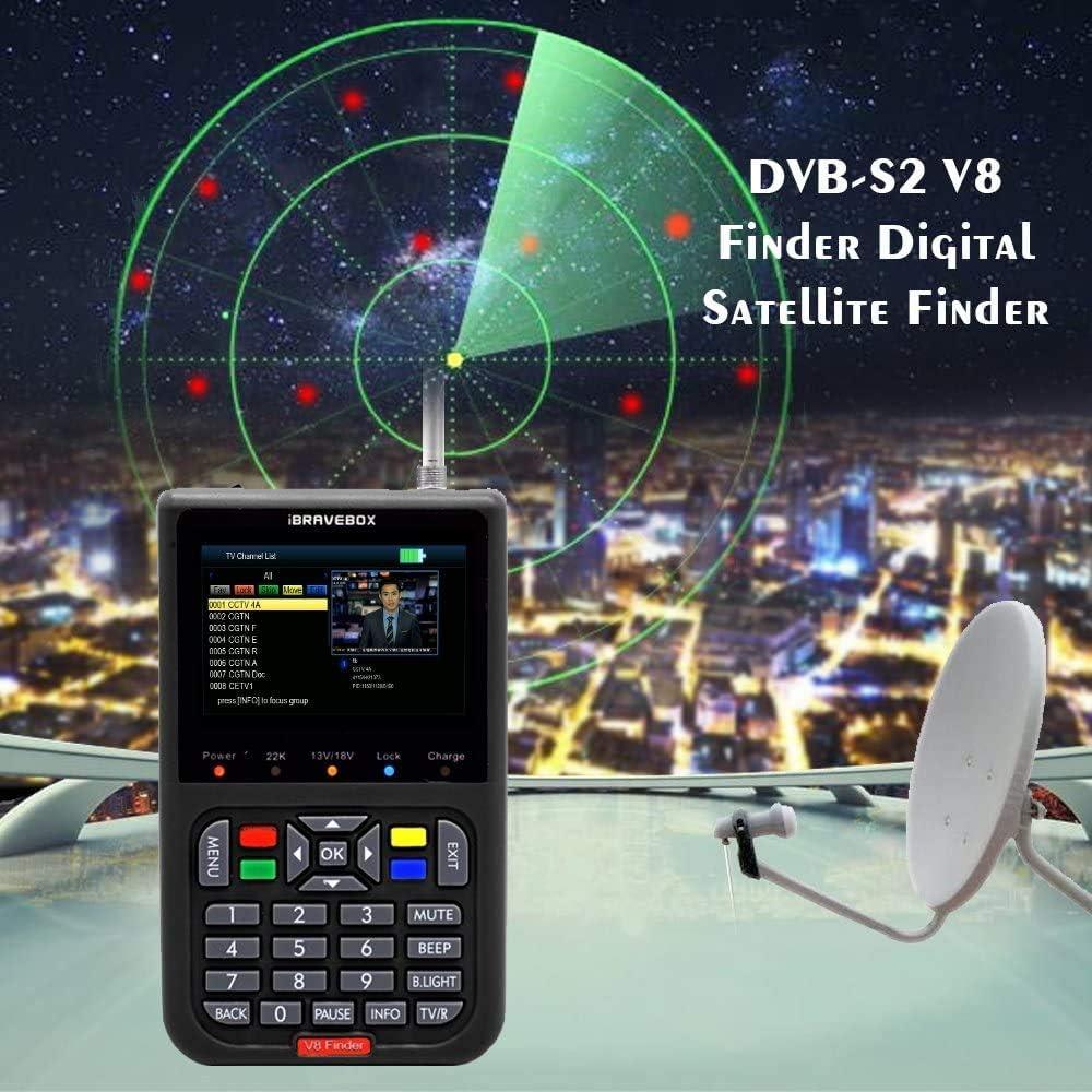 Sat Finder Meter Buscador de satelites Digital V8 Digital Buscador de Satélite Medidor de Campo HDTV DVB-S/S2, 3.5