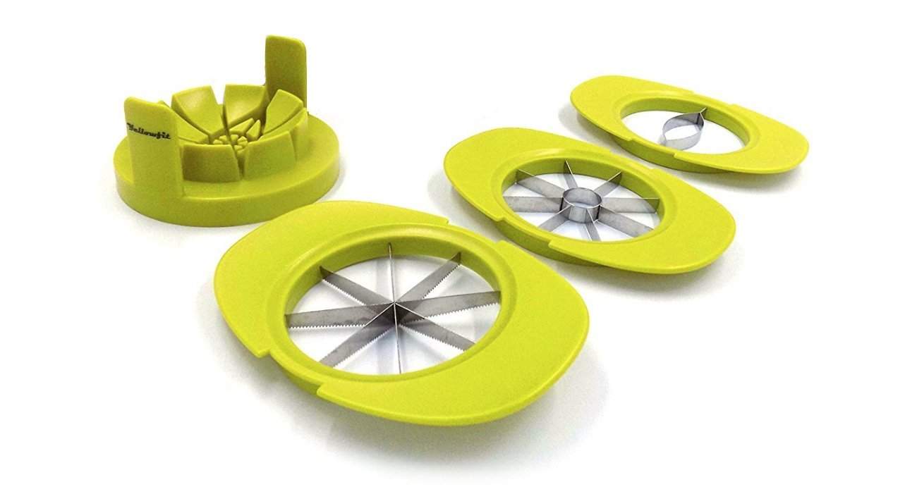 4 in 1 Fruit and Vegetable Cutter Set / Mango Cutter / Apple Cutter / Pear Cutter / Orange Cutter / Tomato Cutter Yellowfit