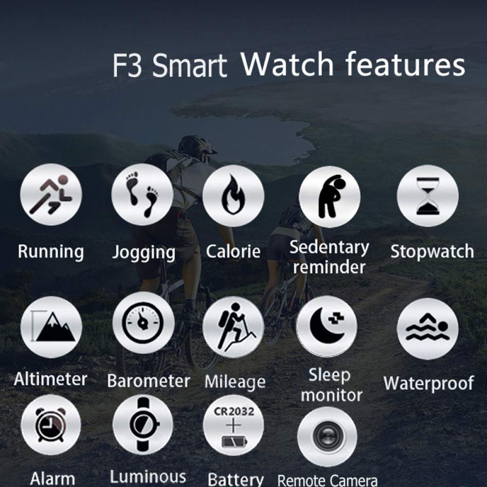GJSHOUHUAN Pulsera Inteligente Bluetooth Smart Watch F3 ...