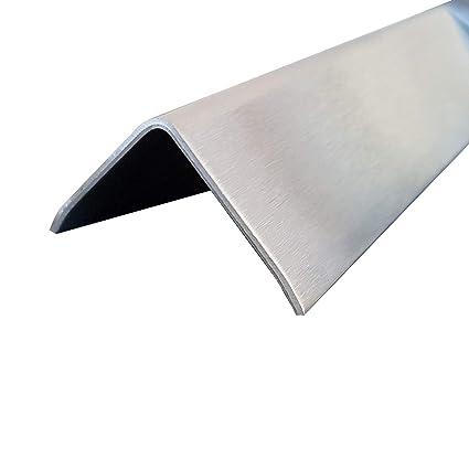 1 ángulo de acero inoxidable K240 con 3 cantos, pulido ...