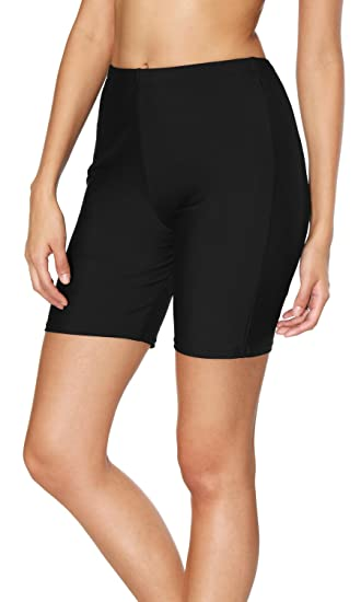 3bbb31c7cc Sociala Women's Long Board Shorts High Waisted Swim Bottoms Rash Guard  Shorts