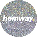 Hemway Premium Multi Purpose Glitter Dust Powder 100g/3.5oz Arts & Crafts Wine Glass Decoration Weddings Cards Flowers Cosmetic Face Eye Body Nails Skin Hair