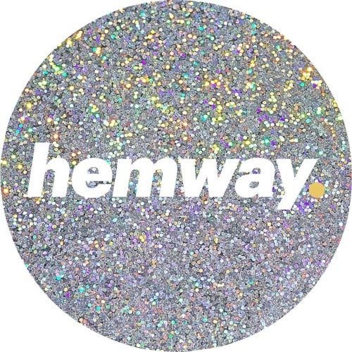 Hemway Silver Holographic Premium Glitter Multi Purpose Dust Powder 100g/3.5oz for use with Arts & Crafts Wine Glass Decoration Weddings Cards Flowers Cosmetic Face Eye Body Nails Skin Hair