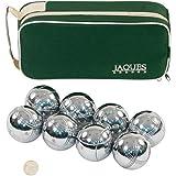 Jaques Polished Alloy 8 Boule Bocce Ball Set - Petanque