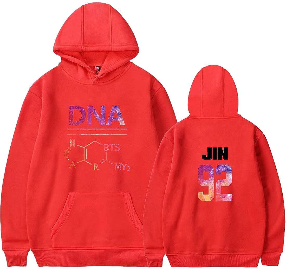 EMILYLE Damen BTS Kapuzenpullover KPOP Stern DNA Suga Jimin Jin Jung Jook Hoodie mit Fleece