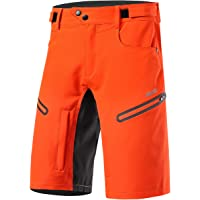 ARSUXEO Mens Bike Shorts,Cycling Shorts,Mountain Bike Shorts MTB Shorts Loose Fit with Moisture-Wicking Waistband