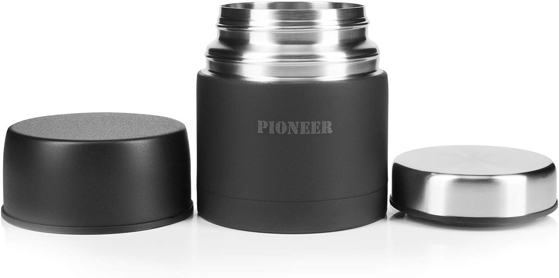 500ml // 0.5L 0,5 l Pioneer Flasks HTH500W Thermos in Acciaio Inox Isolato sottovuoto a Prova di perdite Bianco Inossidabile 500 ml 8 Calde 24 Ore Fredde